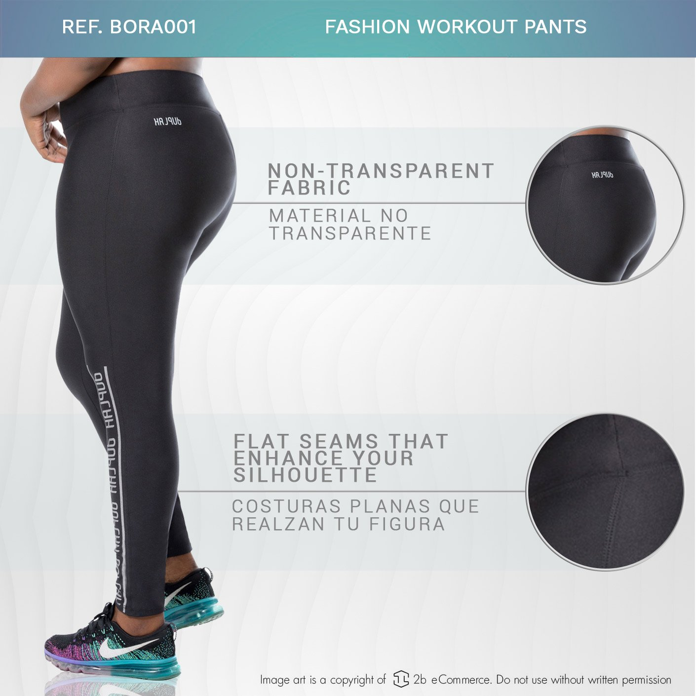 Duplah Bora Bora Womens Fashion Workout Pants Plus Size ...