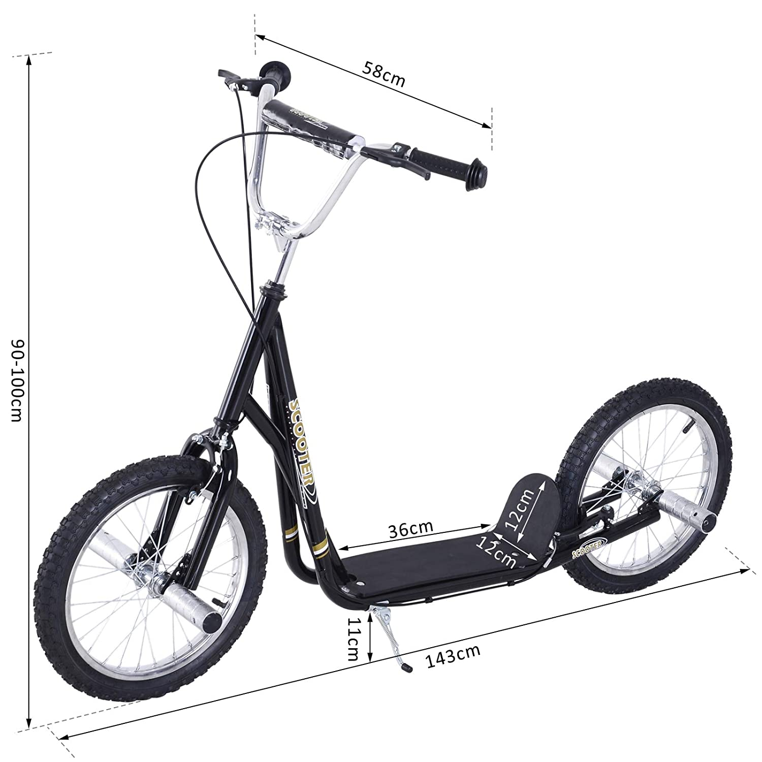 f463feac8ef HOMCOM Adult Teen Push Scooter Kids Children Stunt Scooter Bike Bicycle  Ride On 16
