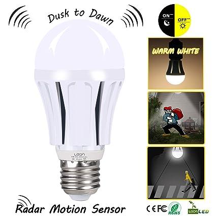 Dusk a Dawn bombilla LED con sensor de movimiento, 100 W equivalente (9 W