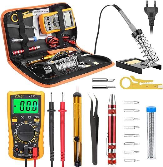 Fer a Souder Electrique Kit de Soudage 60W Reparation Telephone Multimètre