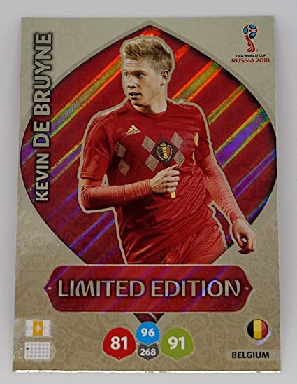 5f97442171e 2018 Panini World Cup KEVIN DE BRUYNE LIMITED EDITION Soccer Card. Not  Found in Packs! at Amazon's Sports Collectibles Store