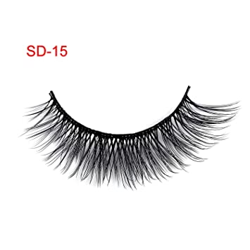 0eecb75e698 Amazon.com : 3 Pairs NEW Handmade Cross False Eyelashes Beauty Makeup Thick  Voluminous Messy Fake Eye Lashes Extension Tools Eye Cosmetic, SD-15 :  Beauty