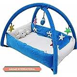 Nagar International Baby Playgym Cum Playpen Blue 0-12 Months Baby