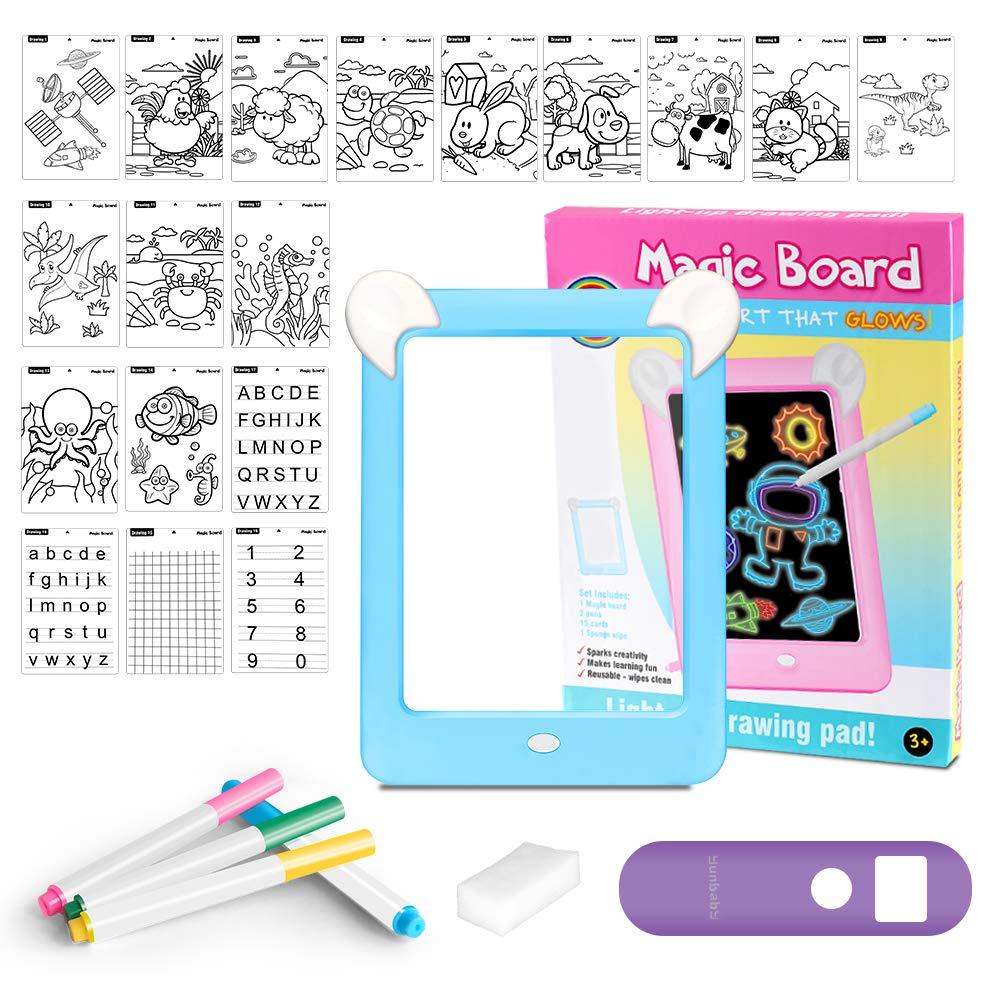 Tablero de Dibujo 3D Mágico con Luces LED Educativo Infantil Dibujo & Marco de Fotos Regalo Juguete para Niños