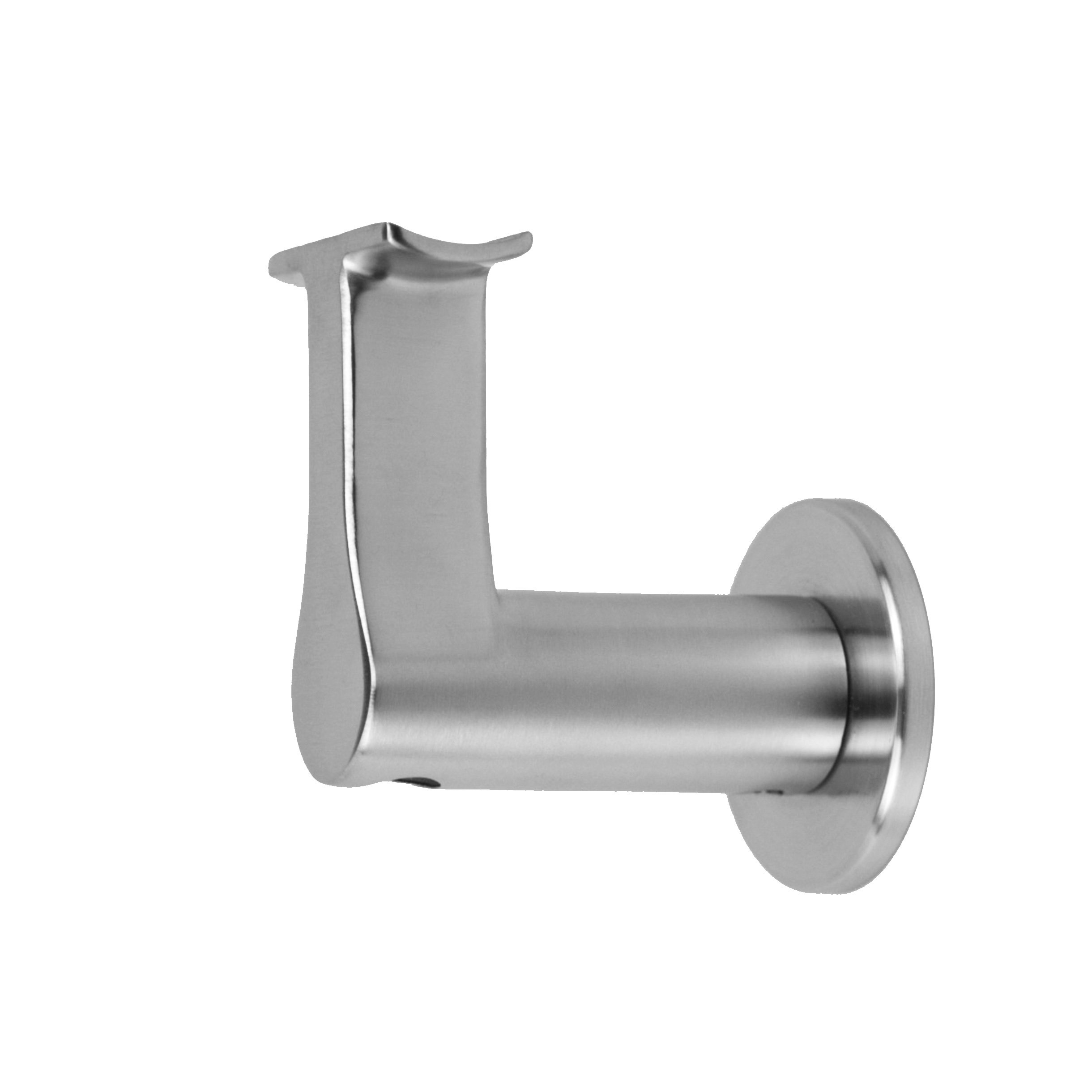Stainless Steel Handrail Wall Bracket Round Slim (Mounting Surface: Wood or Sheet Rock)