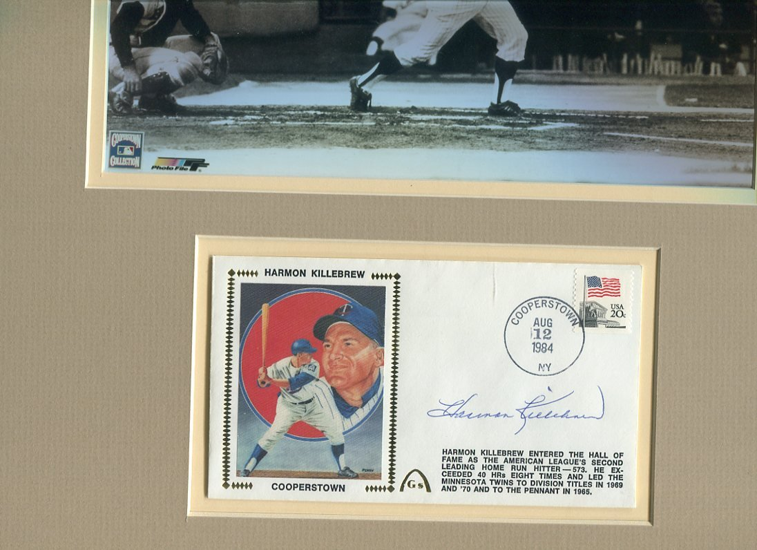 HARMON KILLEBREW / Twins signed 1984 HOF First Day Cover display UACC RD # 212
