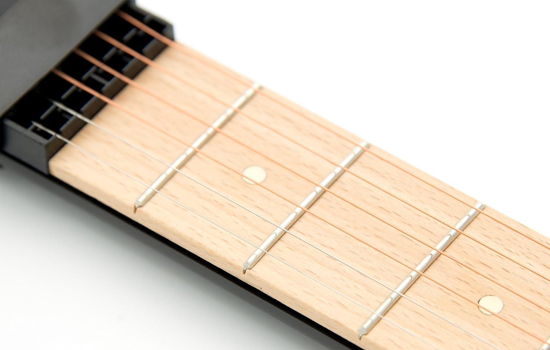 Guitarra acústica portátil de bolsillo, práctica herramienta para practicar acordes, mástil de 6 cuerdas y 6 trastes, modelo para principiantes: Amazon.es: ...