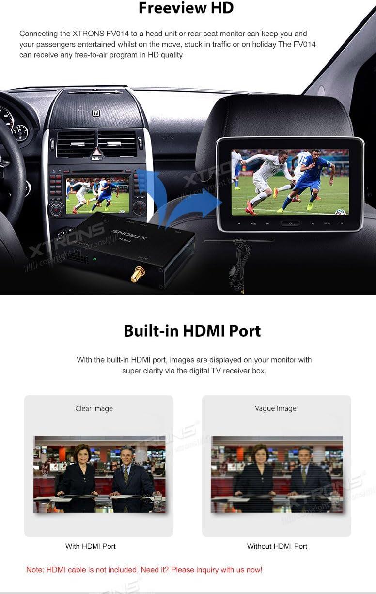 Xtrons Car Digital DVB-T / T2 Caja de TV Freeview HDMI HD USB Sintonizador de TV Receptor Estéreo del Coche Reproductor de DVD Camión Autobús ...