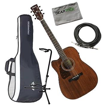 Ibanez aw54lceopn Artwood Dreadnought acústica guitarra eléctrica zurdos Natural poro abierto w/cable, geartree gamuza, soporte, y Gig Bag: Amazon.es: ...
