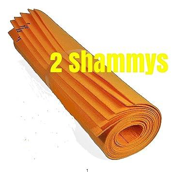 "Gamuza sintética color naranja toallas de Shammy de -2- Super absorbente 27 """