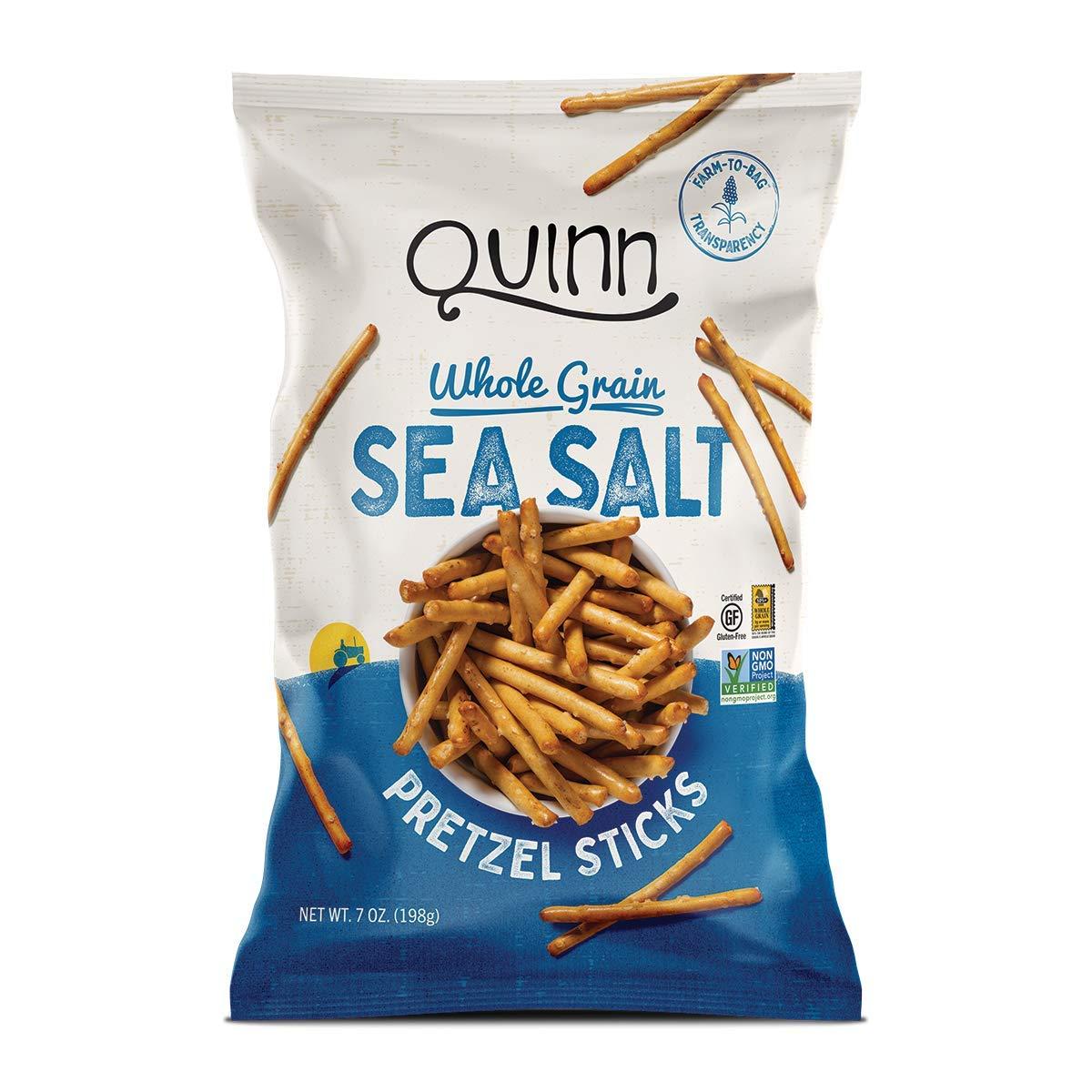 Quinn Sea Salt Pretzel Sticks, Gluten Free Pretzels, Vegan Friendly, Corn Free, Soy Free, Non-GMO, 7 Oz, Pack Of 4