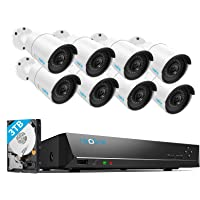 Reolink 16CH 5MP PoE Home Security Camera System, 8 x Wired 5MP Outdoor PoE IP Cameras, 5MP 16 Channel NVR Security…