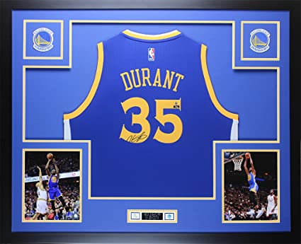 Kevin Durant Autographed Blue Warriors Jersey - Beautifully Matted and  Framed - Hand Signed By Kevin 7c0562e28