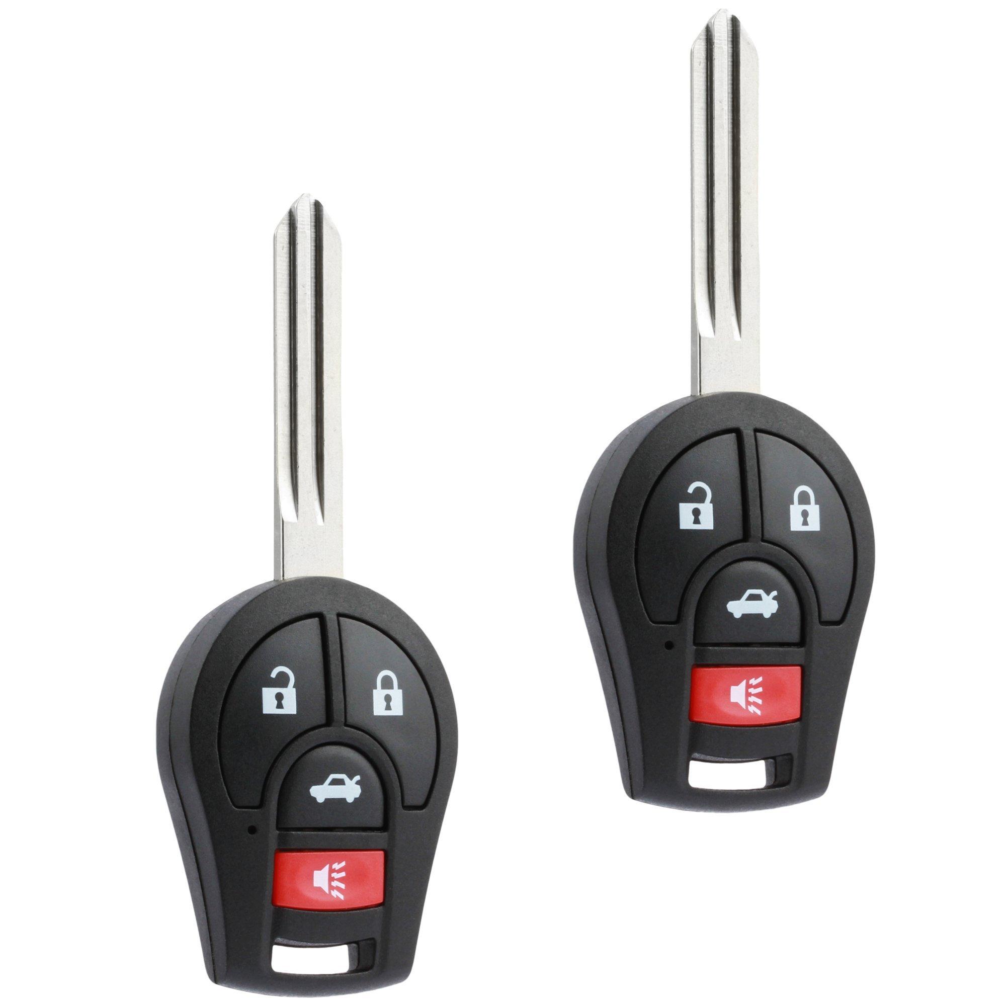 fits 2013 2014 2015 Nissan Sentra Key Fob Keyless Entry Remote (CWTWB1U751),l Set of 2 by USARemote