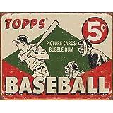 TOPPS - 1955 Baseball Box Tin Sign , 16x12