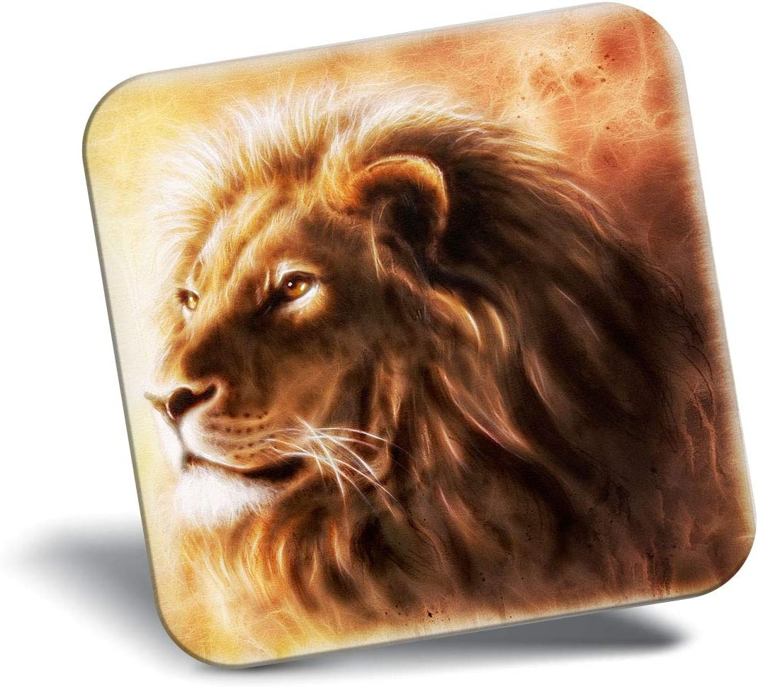 Awesome Fridge Magnet - Awesome Majestic Lion Big Cat 8800