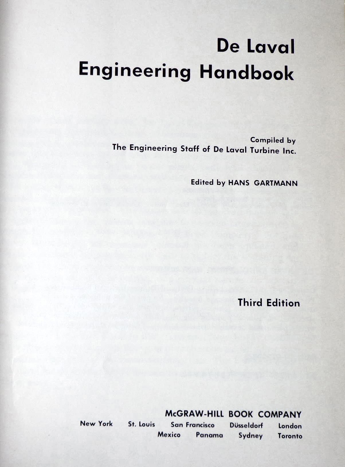 DeLaval Engineering Handbook Amazon H Gartman