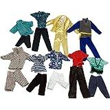 Lance Home 5 Ensembles Vêtements de mode pour Ken de Barbie(Chemise,Pantalon,Vêtements) Style Aléatoire