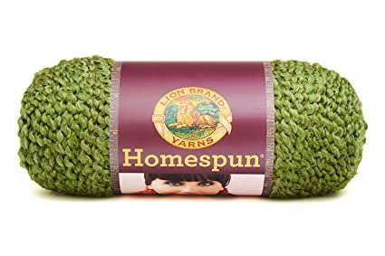Amazon Lion Brand Yarn 790 378 Homespun Yarn Olive