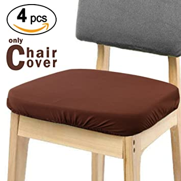 Voilamart Chair Seat Covers, Dining Chair Cover, Stretchable Soft Chair  Protectors Slipcovers For Bar