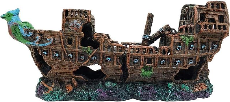 Meizi Aquarium Deko Gross Aquarium Dekoration Harz Aquarium Zubehor Aqua Ornaments Fur Kleine Garnele Fisch Schildkrote 24x10x7cm Ship Amazon De Haustier