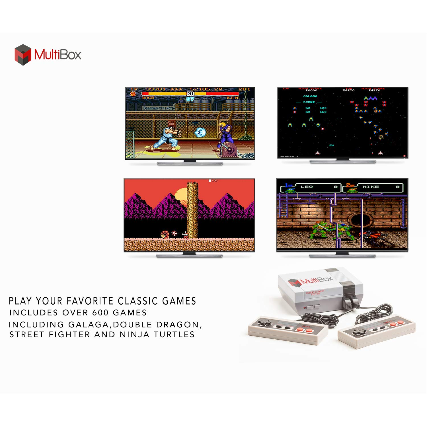 BEST BOX Classic Game Console Retro Childhood Game Classic Game Consoles Built-in 620 Childhood Classic Game Dual Control 8-Bit Console Handheld Game Player Console for Classic Games Family TV Video by BEST BOX (Image #5)