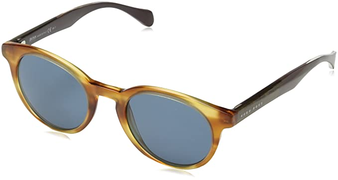 BOSS Hugo 0912/S 9A 1K1 Gafas de sol, Marrón (Horn Crybrwn/Bluette), 50 Unisex-Adulto