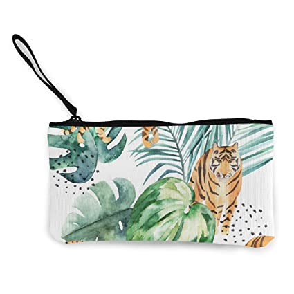 TTmom Carteras de Mujer,Monedero,Tropical Leaves Tiger ...