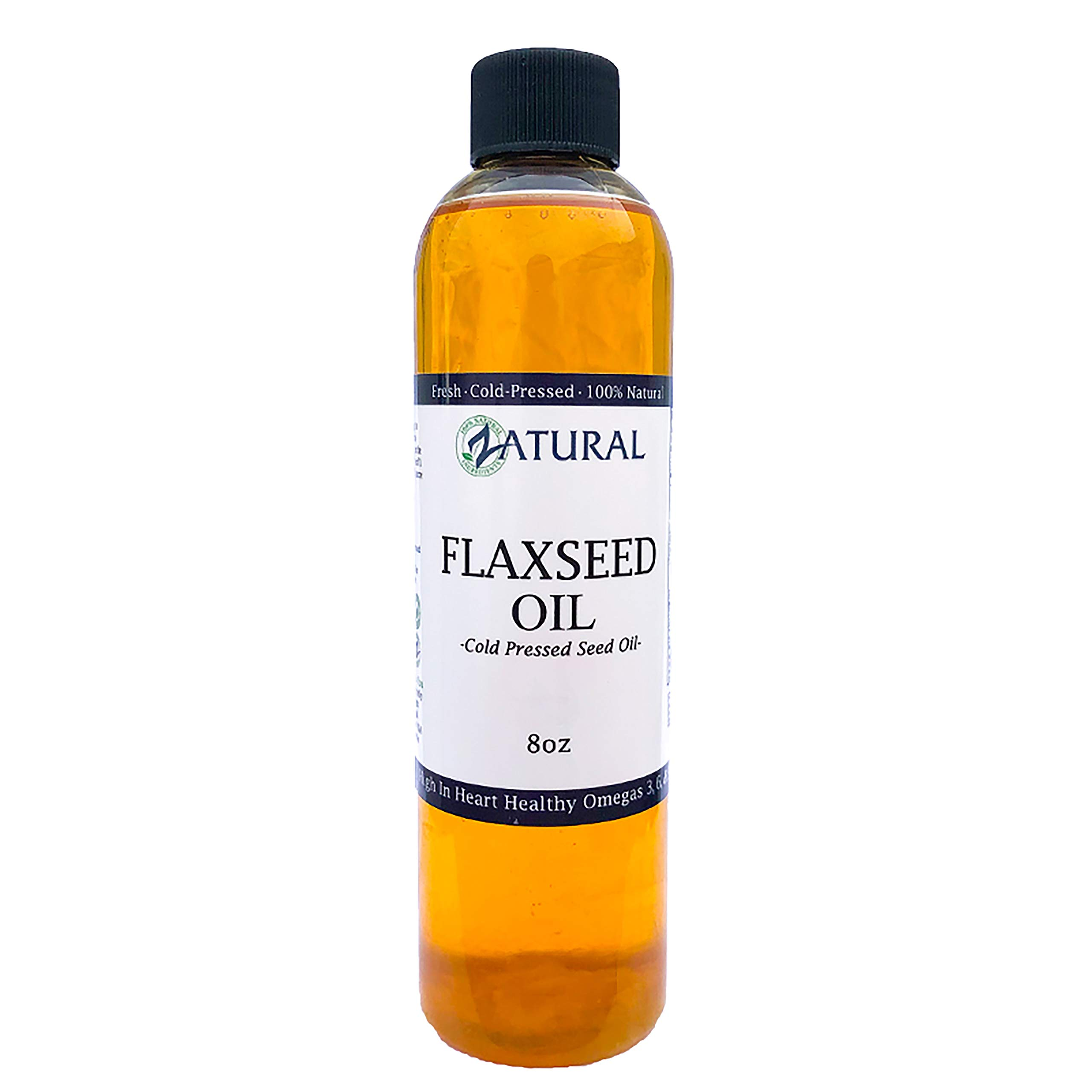 FlaxSeed Oil - 100% Pure Flax Seed Oil - 0 Additives - 0 Fillers - Cold Pressed - Unrefined (8 Ounce) by Zatural