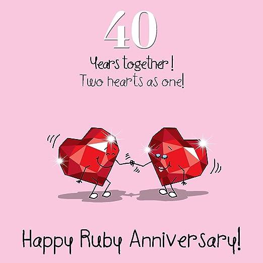 40 Aniversario de boda Tarjeta de felicitación – Aniversario ...