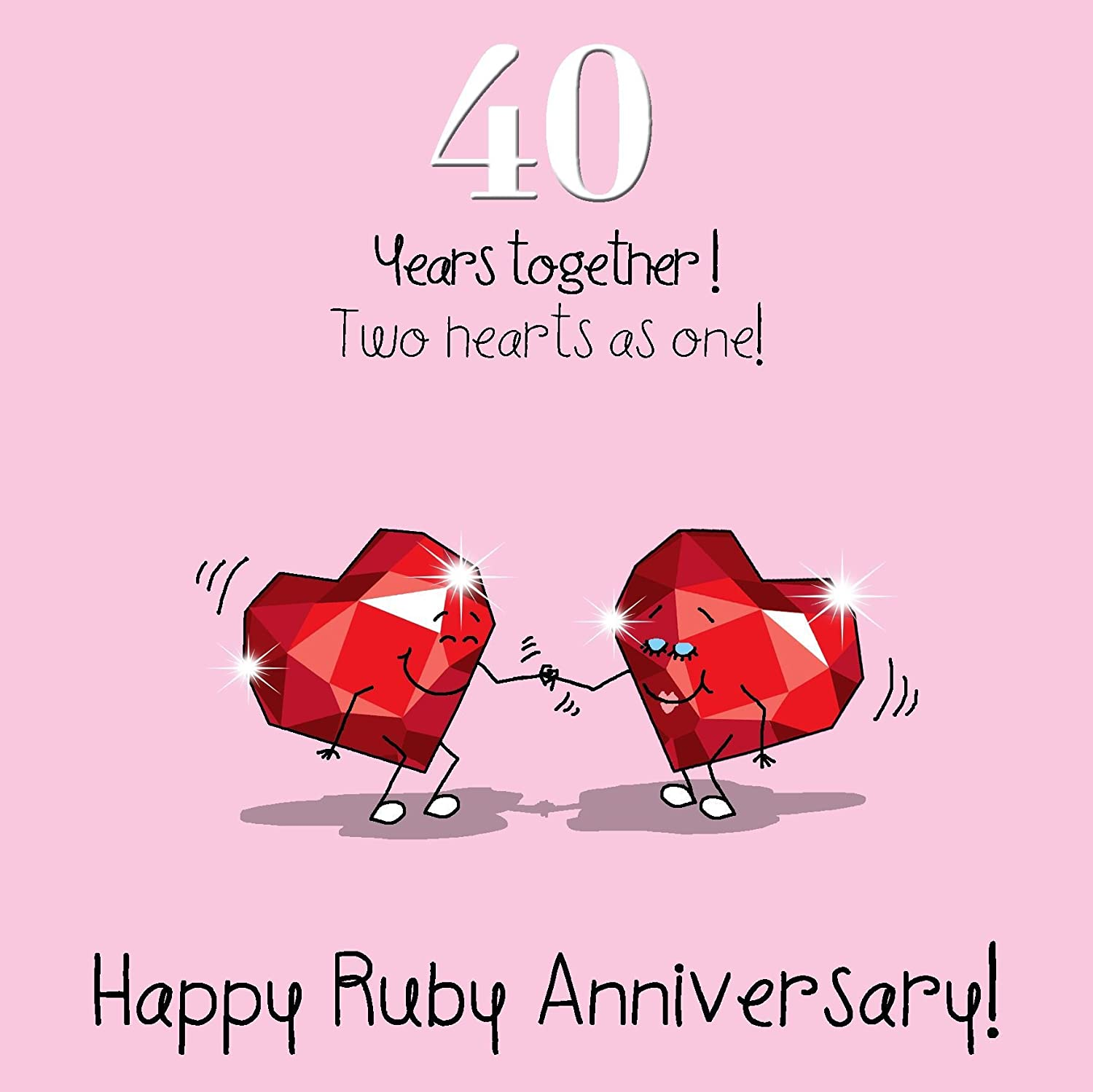 40th Wedding Anniversary Greetings Card - Ruby Anniversary Fax Potato