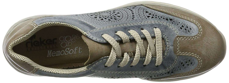 Rieker Rieker Rieker Damen L3206 Sneaker Blau (Steel/Azur / 43) 79d38a