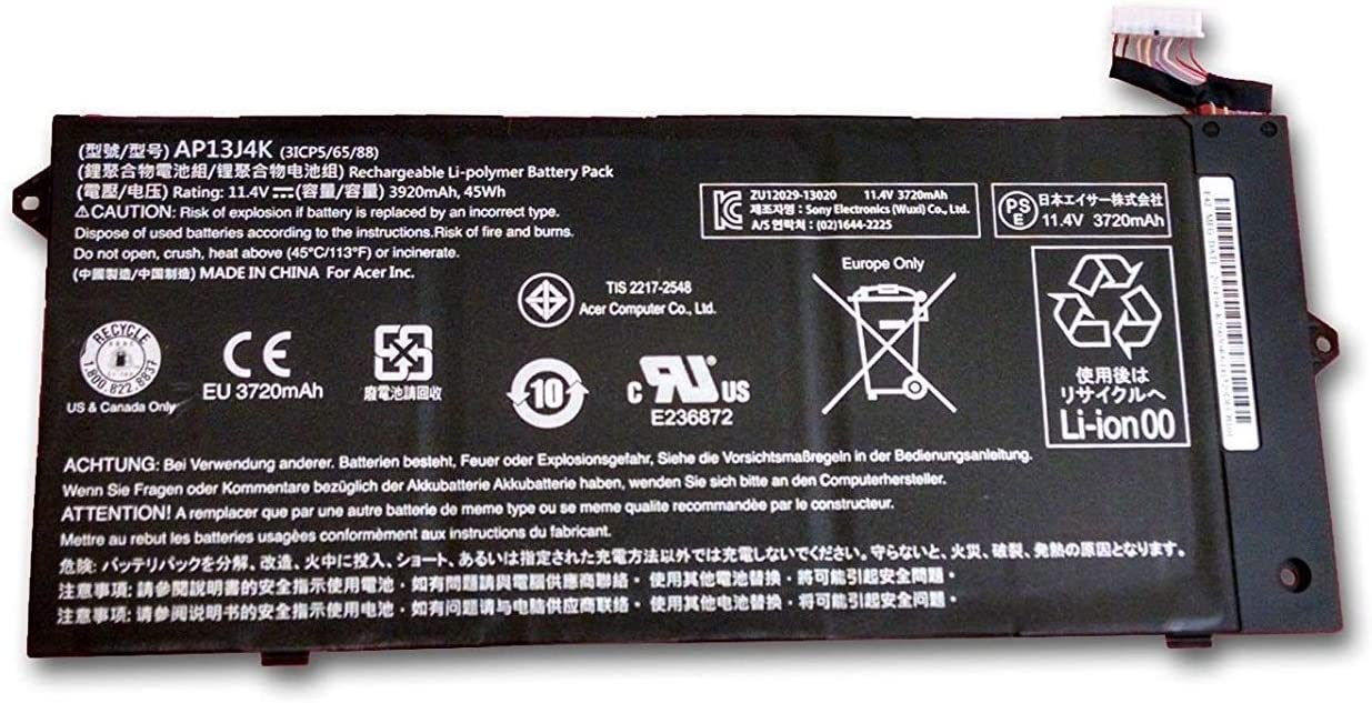 SUNNEAR AP13J4K Battery Replacement for Acer Chromebook 11.6