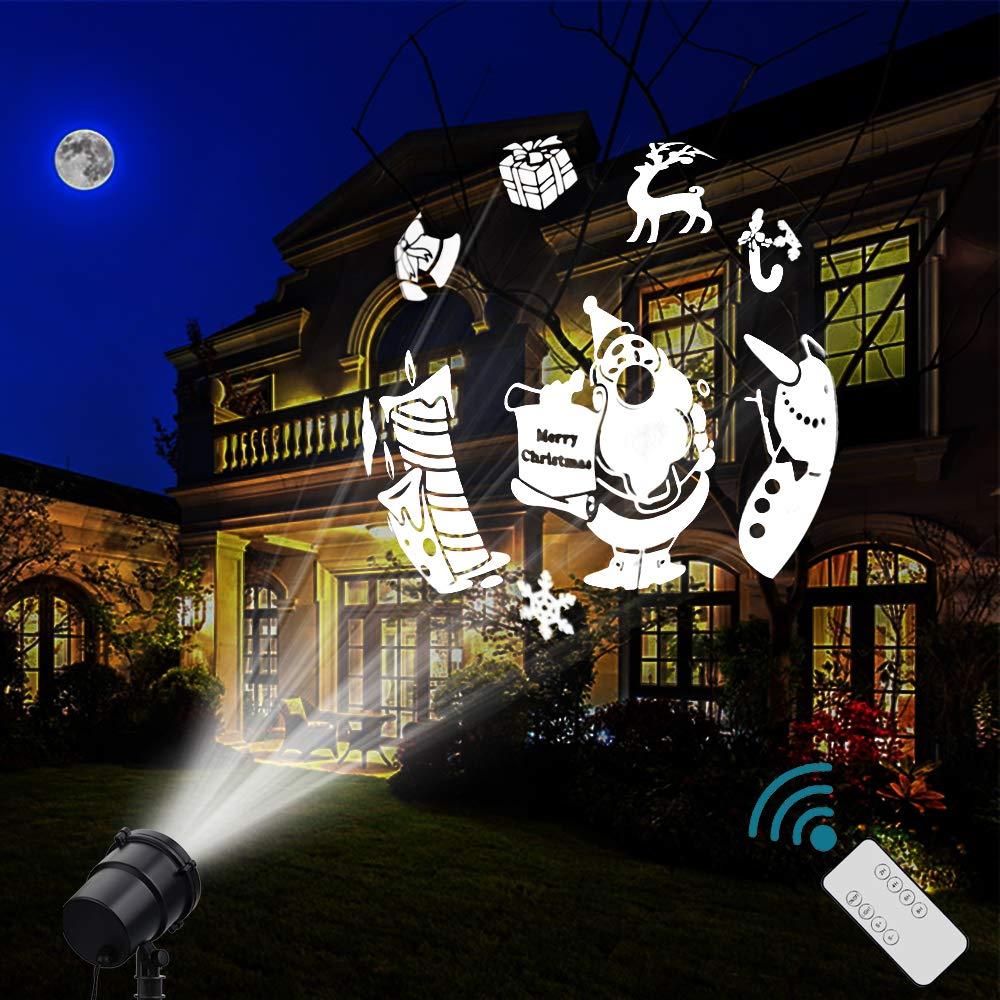 Christmas Decoration, Halloween Projector, 18 Mode Rotating Projector Spotlight, Waterproof LED Landscape Light Outdoor Garden Wall, Decorative Christmas Birthday Party PAIGOU