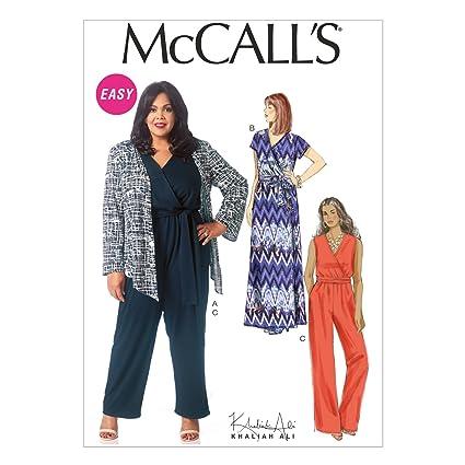 aa687fafc230 Amazon.com  McCall s Patterns M7135 Misses  Women s Shrug Dress ...