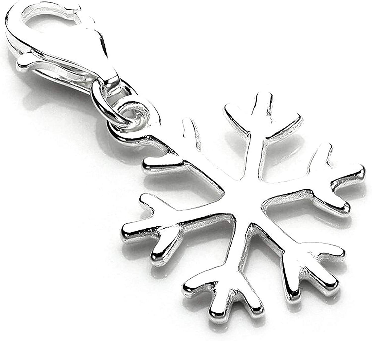 jewellerybox Sterling Silver Winter Snowflake Necklace