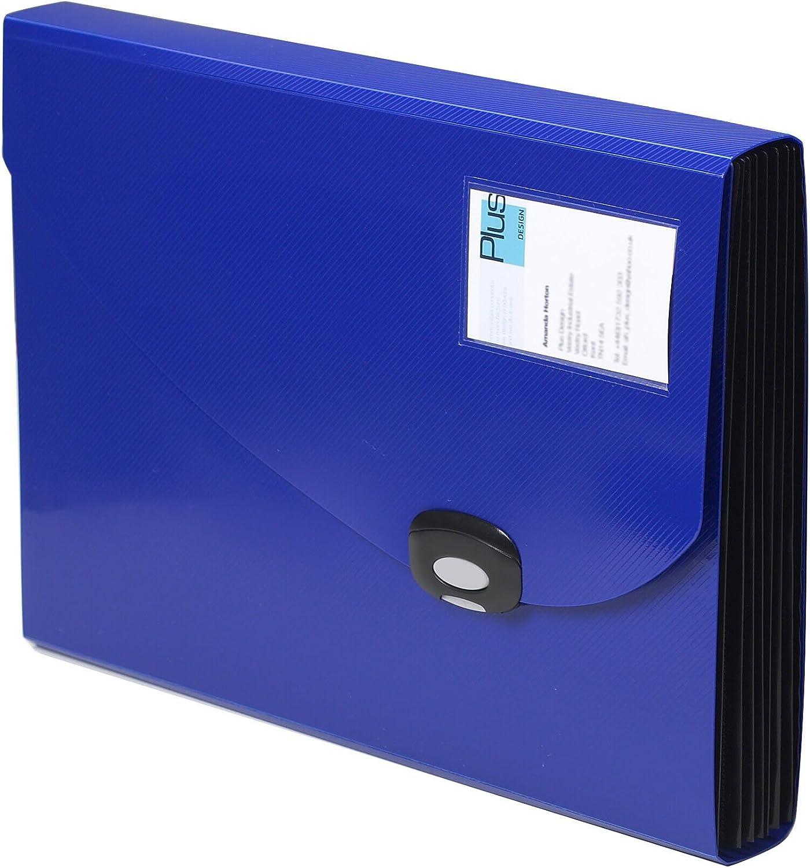 Rapesco Documentos - Carpeta archivadora tipo acordeon A4 con 13 compartimentos, color azul