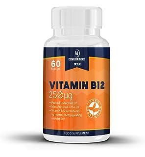 Vitamina b12 - Tabletas vitamina b12 de alta resistencia - Contribuye al funcionamiento normal del sistema