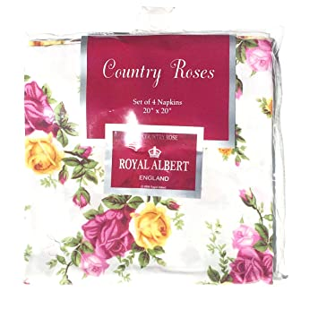 Amazon royal albert old country roses luxury napkins easy care royal albert old country roses luxury napkins easy care set of 4 napkins 20quot mightylinksfo