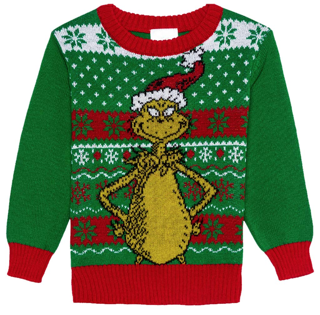 Toddler Dr Seuss The Grinch Christmas Sweater, Green (18 Months) by Dr Seuss Christmas