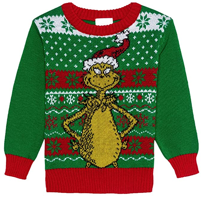 The Grinch Christmas Sweater.Toddler Dr Seuss The Grinch Christmas Sweater Green