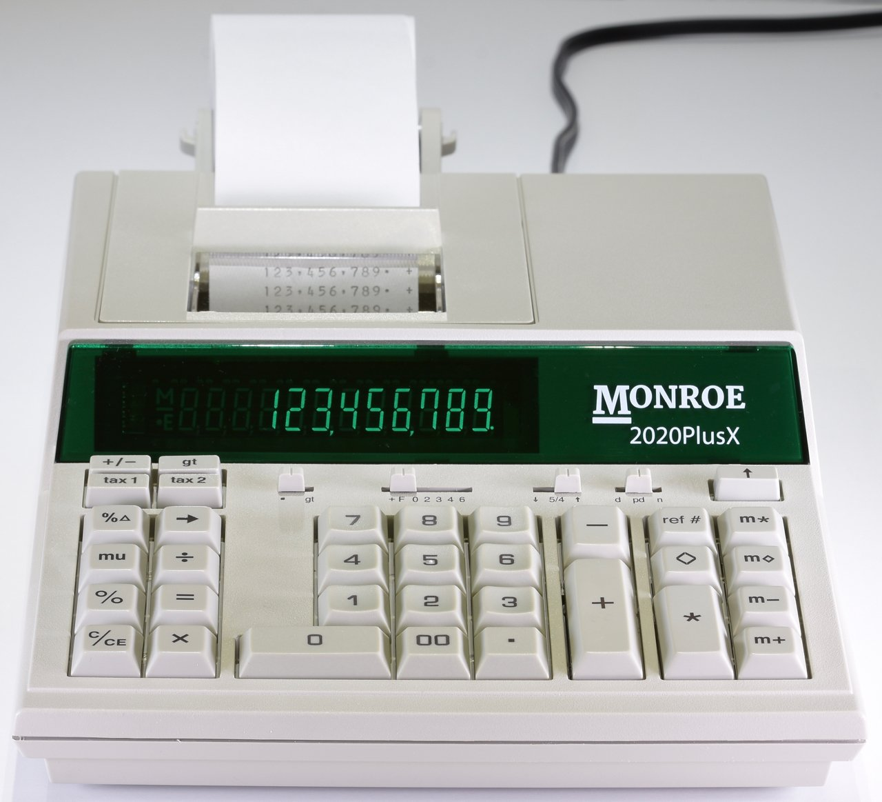 (1) Monroe 2020PlusX 12-Digit Medium-Duty Color Printing Calculator in Ivory by MONROE SYSTEMS FOR BUSINESS