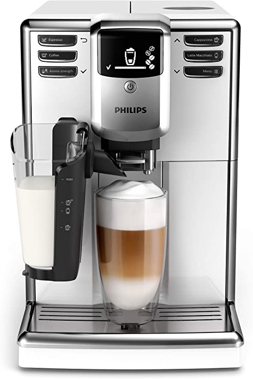 Philips 5000 - Cafetera automática (reacondicionada) LatteGo Blanco: Amazon.es: Hogar