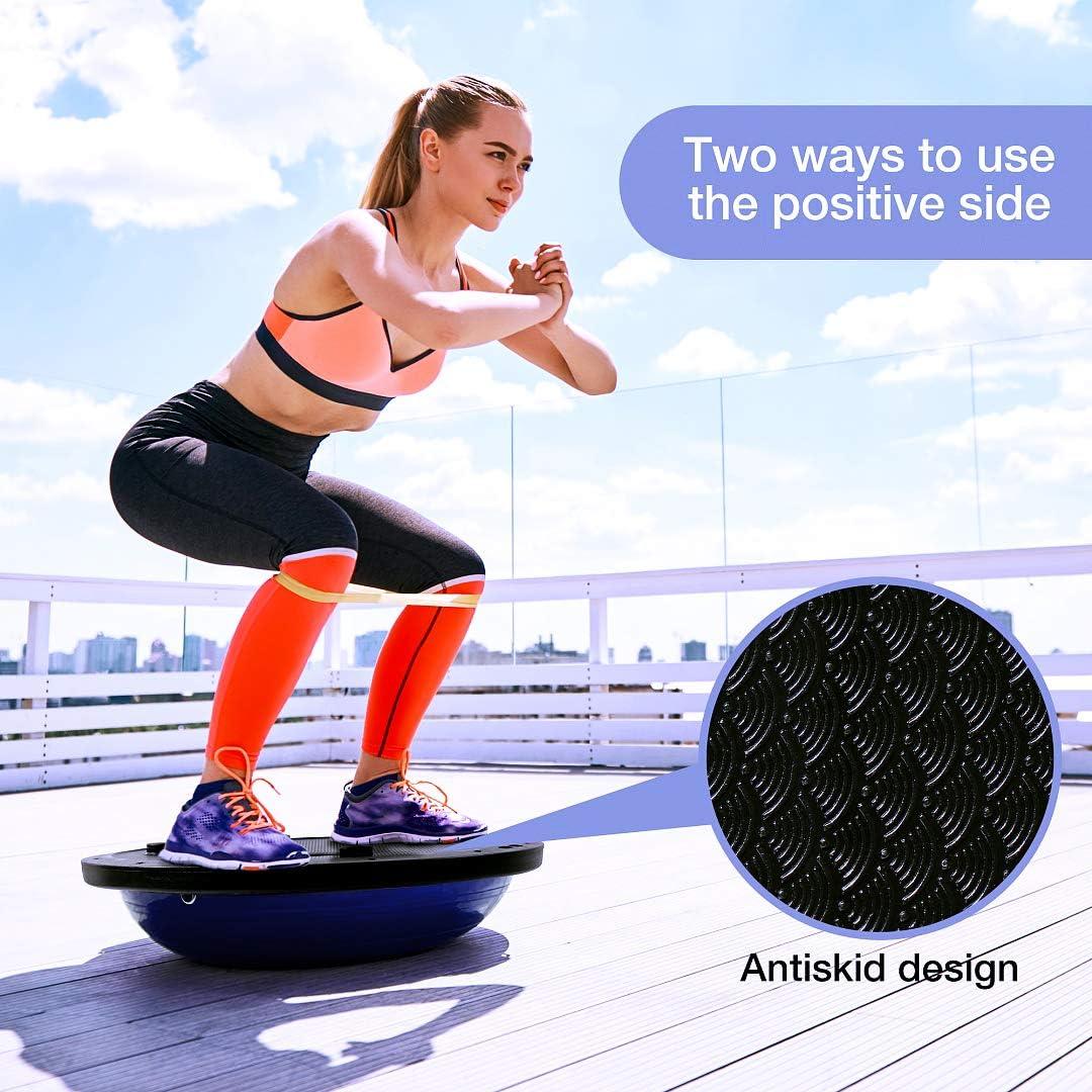 Olz Twist Conseil Balance Board Fitness Base Torsion entra/înement Conseil Unisexe Yoga Balance Gym 60x25x0.8 cm Seesaw