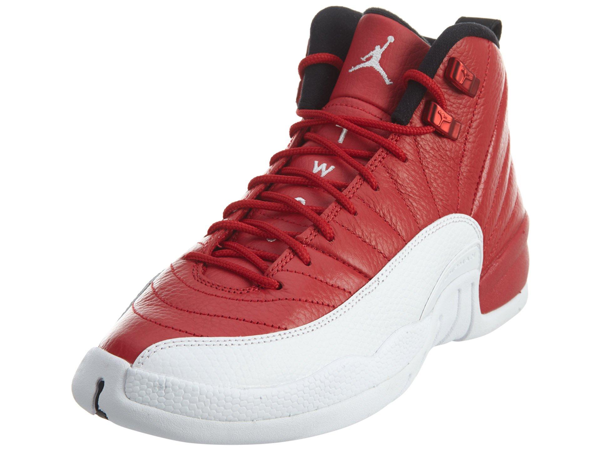 official photos da45f 9d769 Jordan Kids  Air 12 Retro Bg French Black Red   Amazon