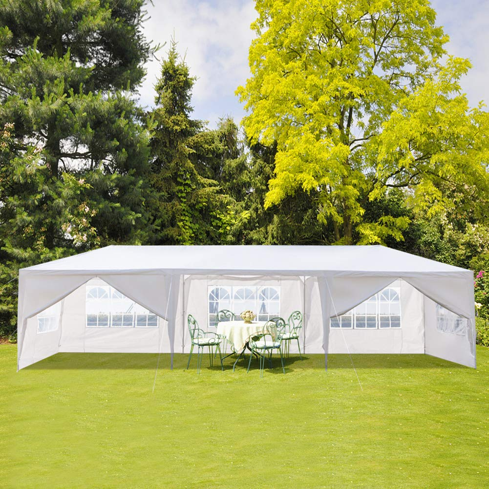 Ooscy Party Tent,Pop up Canopy Party Wedding Gazebo Tent Shelter with Removable Side Walls White by Ooscy (Image #9)