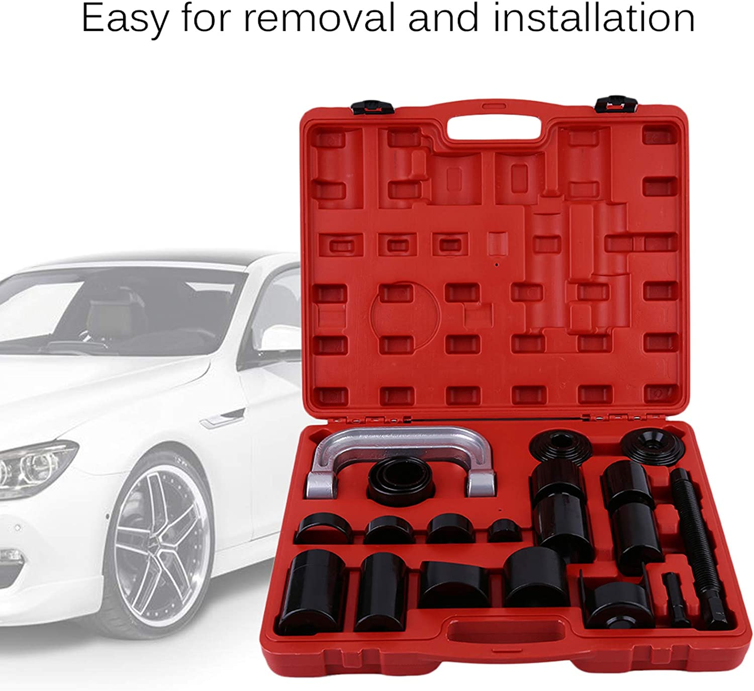 Ball Joint Press Kit Heavy Duty Master Ball Joint Service Tool with 4x4 Adapters U Joint Removal Tool Puller for Most 2WD and 4WD Cars and Light Trucks SUVs 21pcs Ball Joint Removal Tool