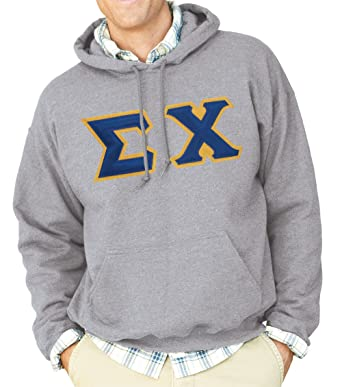 sigma chi hoodie sewn on letters