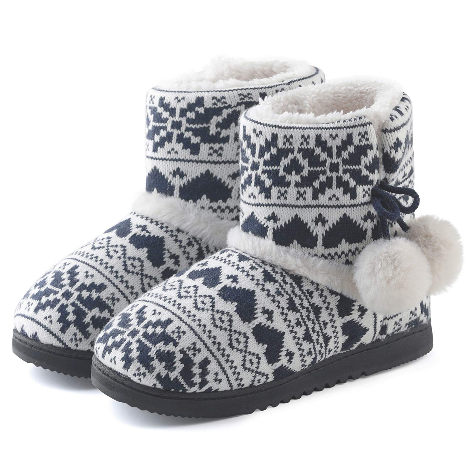 228f66a8d Amazon.com   ChicNChic Women Cozy Plush Fleece Bootie Slippers Winter  Indoor Outdoor House Shoes   Slippers