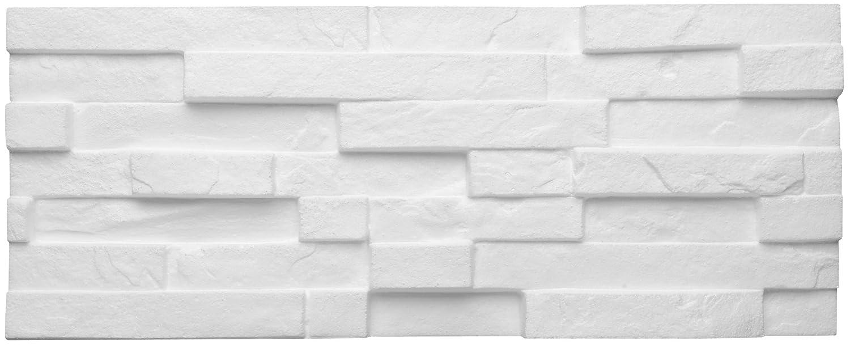 Decosa Pierre murale à décorer Sierra (aspect briquette), blanc 20 x 50 cm (= 0,5m2) Saarpor